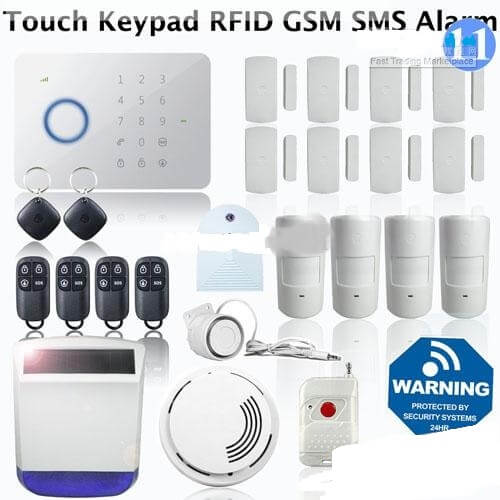 2012 smart touchkeypad wireless home alarm system
