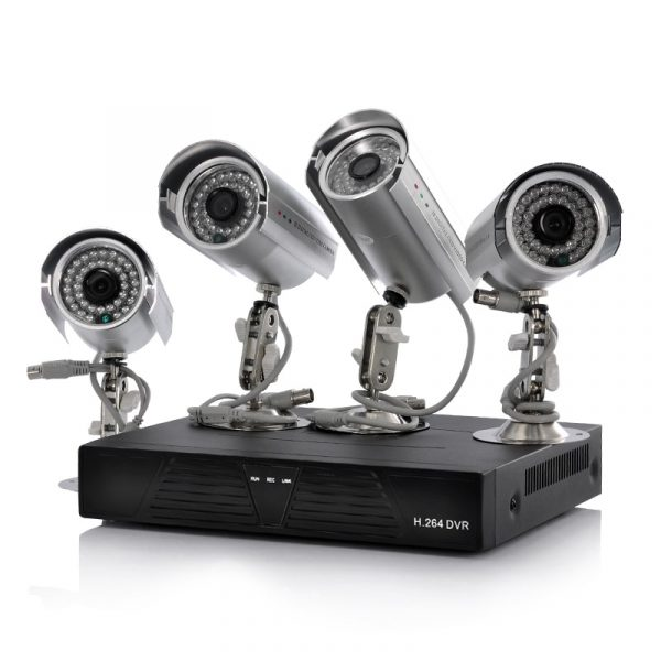 4 camera cctv kit with 500gb dvr 4 outdoor cameras