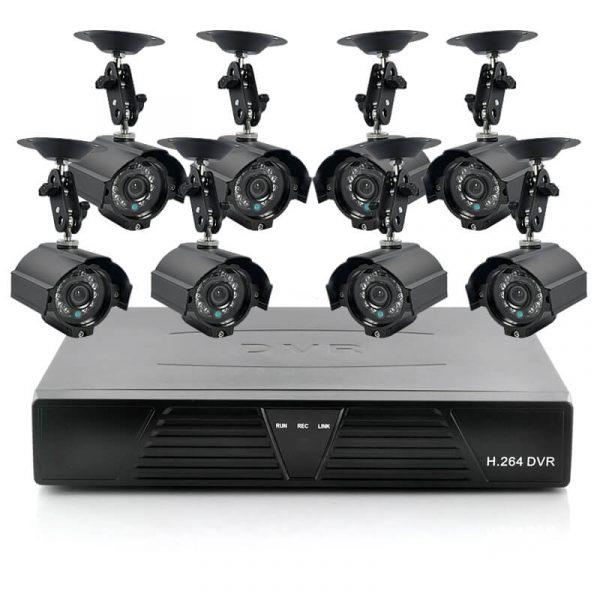 8 camera cctv kit with 8 outdoor cameras 1tb dvr