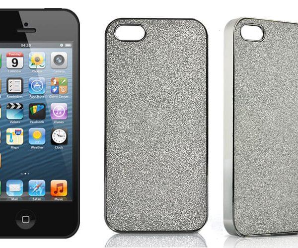 iphone 5 silver case silver glitter