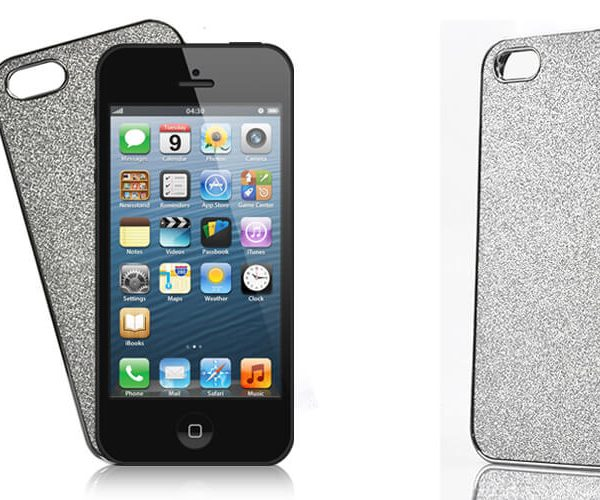 iphone 5 silver case silver glitter