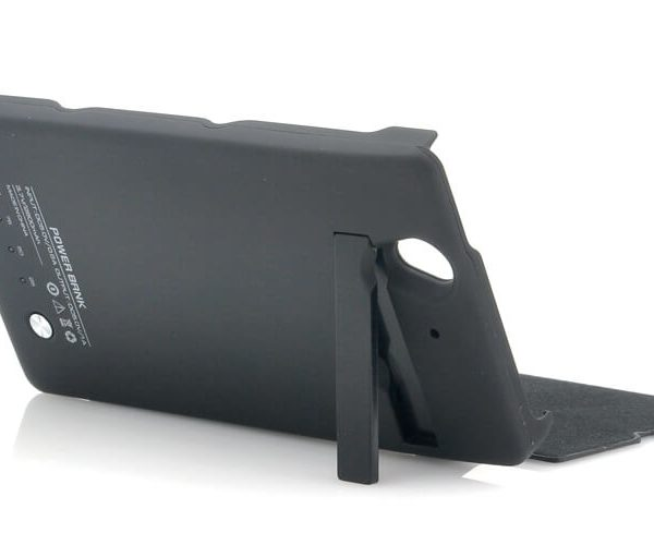 sony experia z l36h l36i external 2800mah battery case with flip cover flip out stand