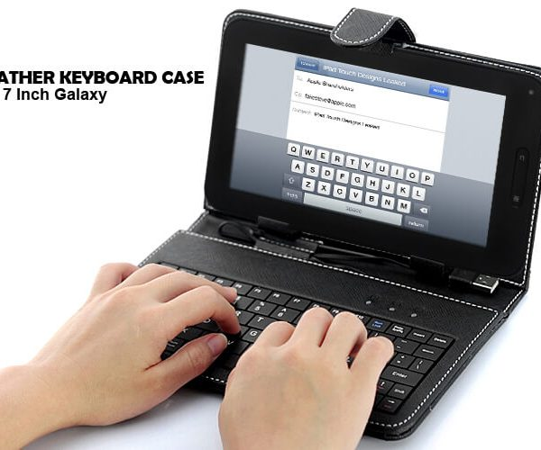 tablet pc leather keyboard case