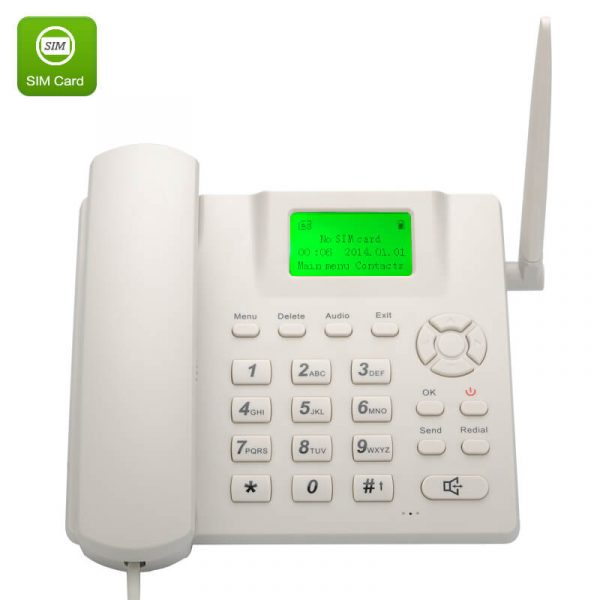 wireless quad band gsm desk phone 2.4 inch lcd screen