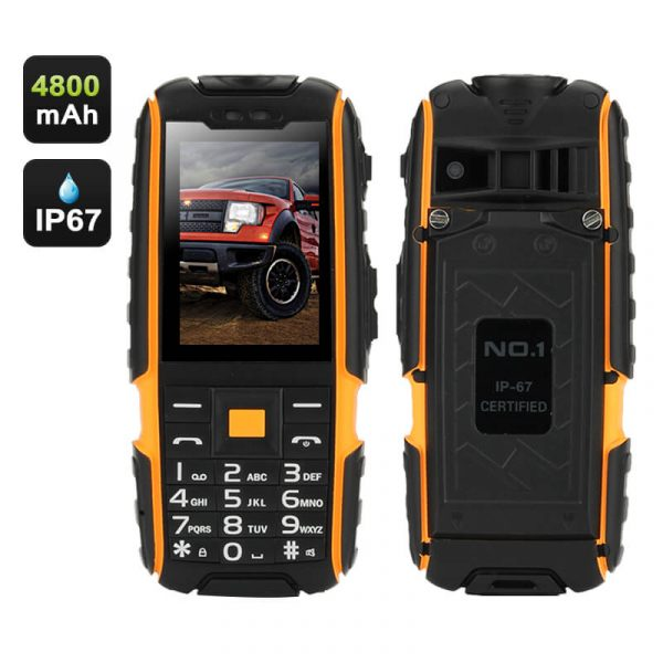 rugged builders phone with 4800mah battery 2.4 inch screen