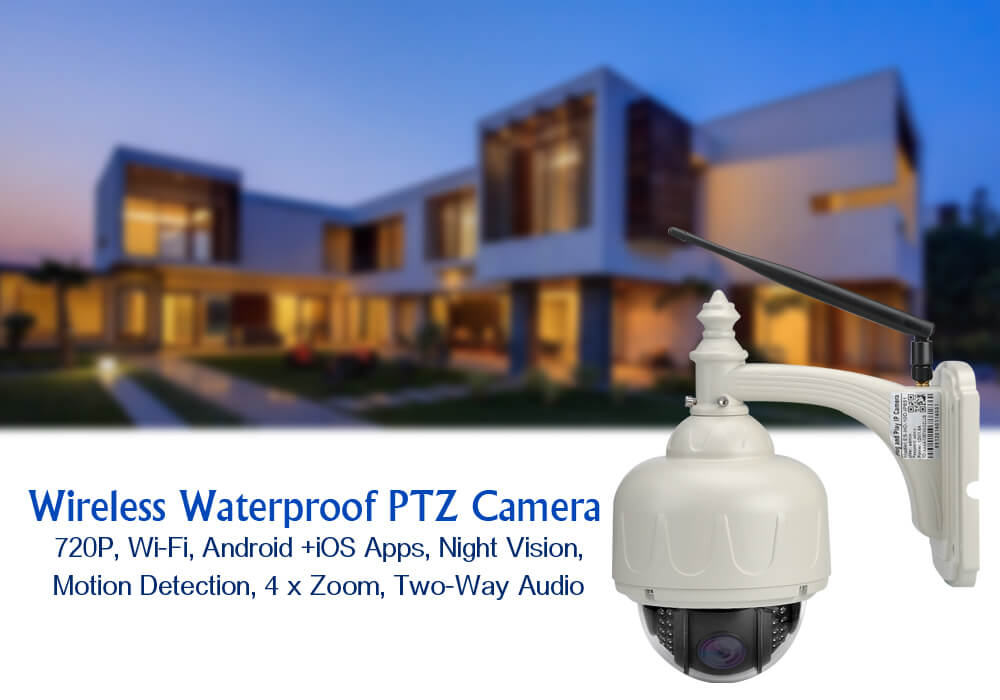 wireless waterproof ptz ip camera 720p wi fi android
