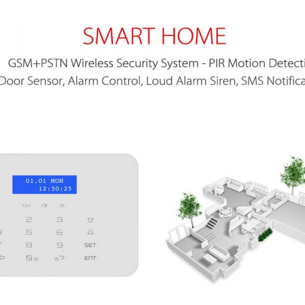 gsmpstn wireless security system pir motion detection