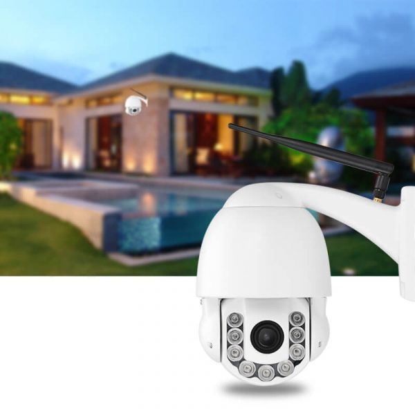 ptz dome outdoor ip camera 960p 4x optical zoom