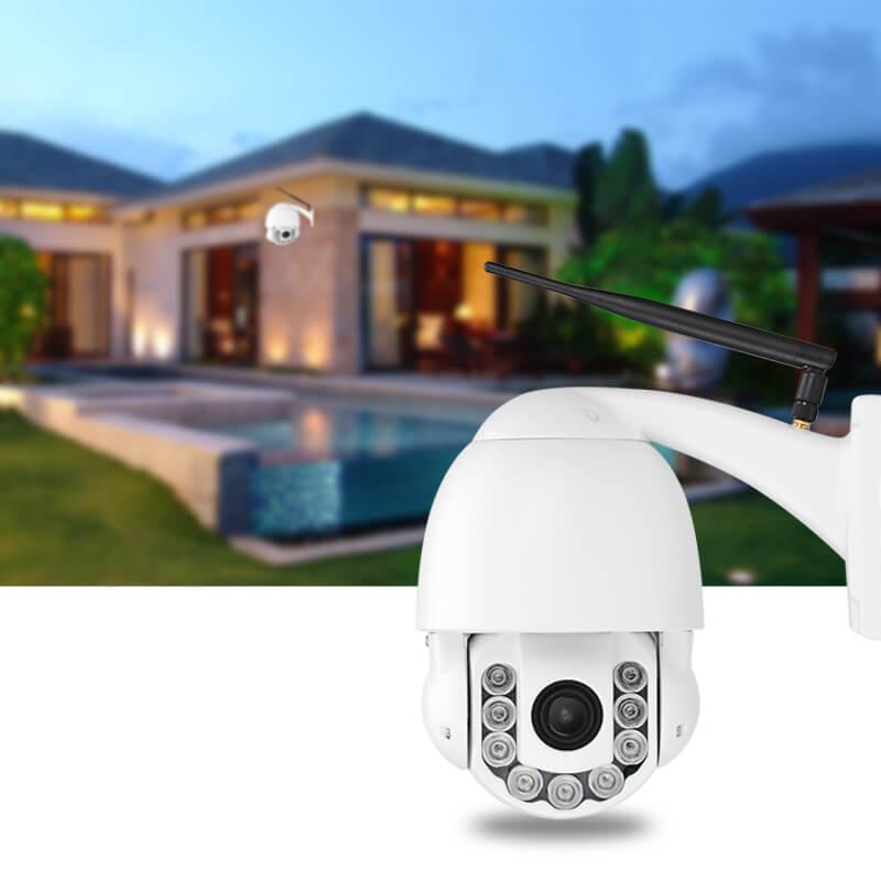 ptz dome outdoor ip camera 960p 4x optical zoom