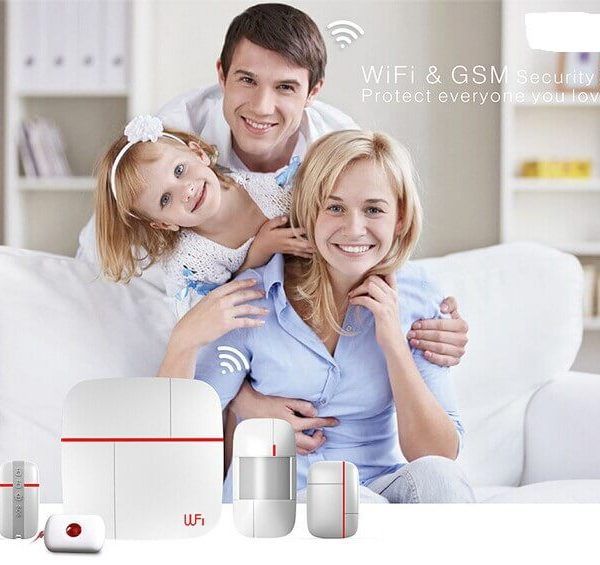 smart home security system android ios app pir sensor