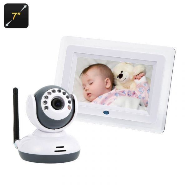 baby monitor ip camera sensor vox 7 inch lcd display night vision