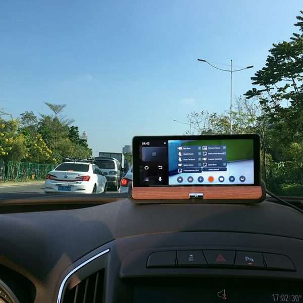 car dvr kit 7 inch display 2 cameras gps navigation android os