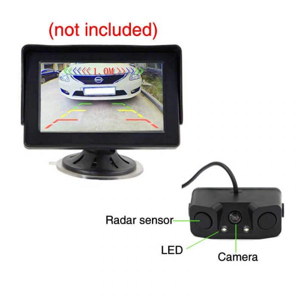 car rearview camera nightvision 13 inch