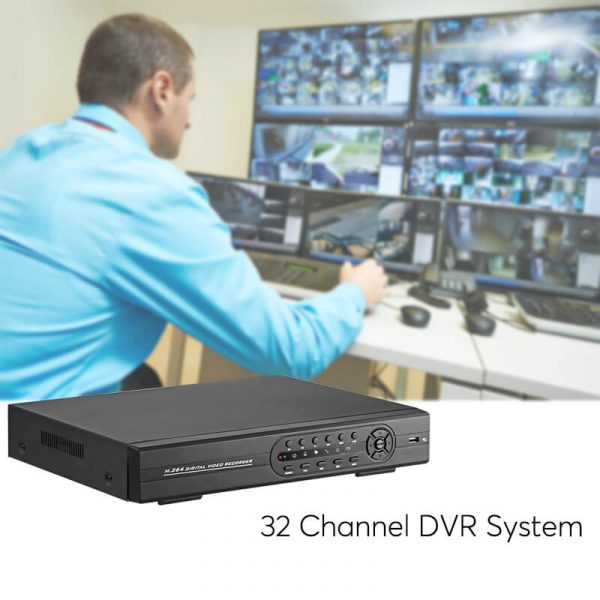 32 channel dvr system 1080p camera support vga
