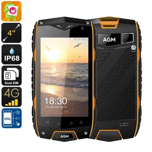 rugged phone ip68 dual imei 4g otg quad core cpu 2gb ram android os 8mp camera 4 inch display