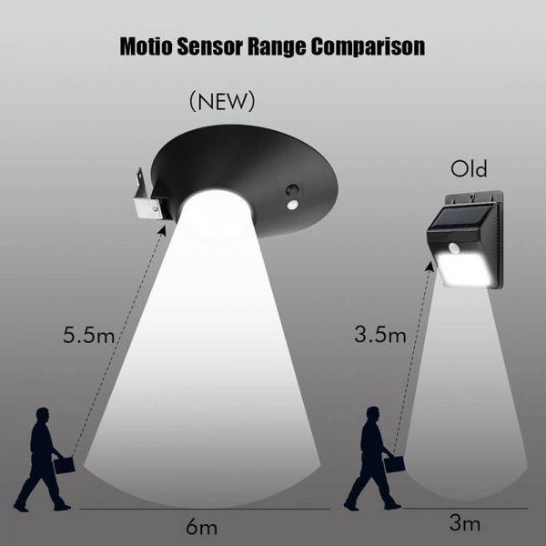 solar powered led light 3 light modes pir