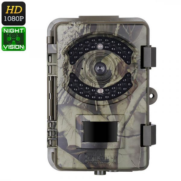 1080p trail camera fhd video 16mp pictures pir sensor 20m night vision ip66 waterproof time stamp 2.4 inch display