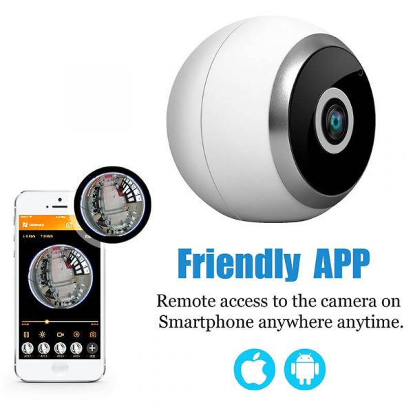 360 degree ip camera motion detection wireless night vision app support sd card recording hd resolution wifi