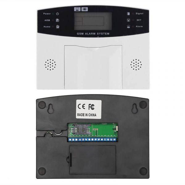 home security system 2.5 inch display 4x pir motion detection smoke detector 10x window sensor sms call alarm