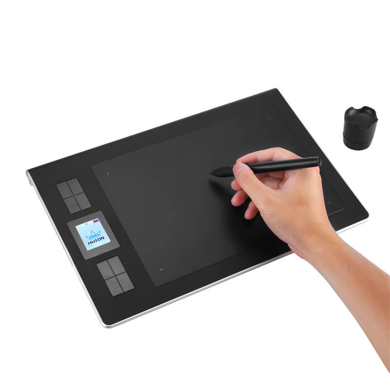 wireless graphics tablet 2.4g wireless 9x6 inch drawing area 5080lpi 233rps rechargeable stylus pen