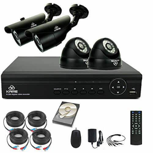 1 megapixel 4 camera cctv kit