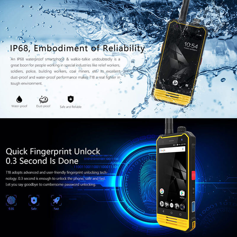 miltary grade t18 rugged smartphone android 7.0 octa core cpu