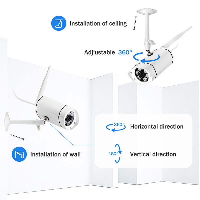 1080p nvr kit 8 cameras app support 25m night vision p2p support ip66 waterproof sata white