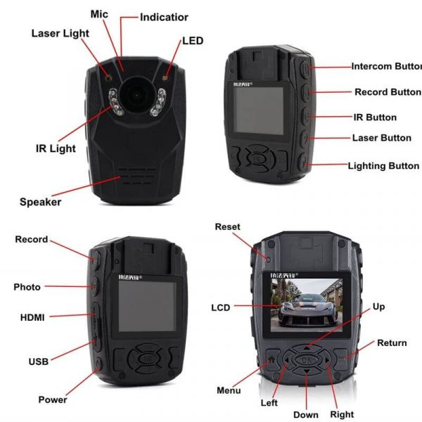 police body cam ip58 waterproof