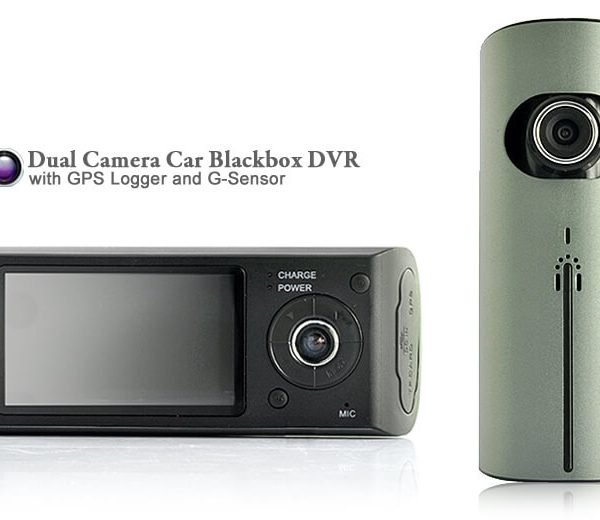 dual camera car blackbox dvr with gps logger and g sensor