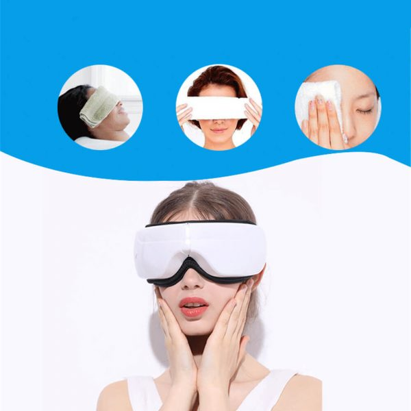 eye massager air pressure heat compression vibration reduces stress