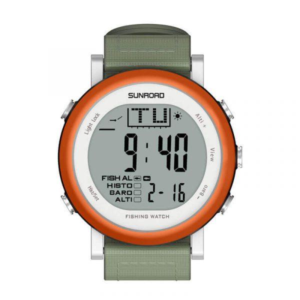 fishing barometer watch fr721 digital 5atm waterproof multifunction sport watch