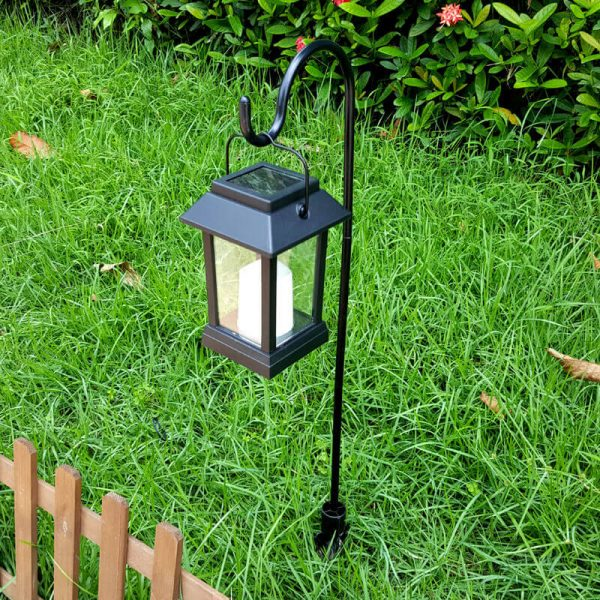 garden view lamp 15 lumen ip44 rating 600mah battery candle effect intelligent light control amorphous silicon solar panel