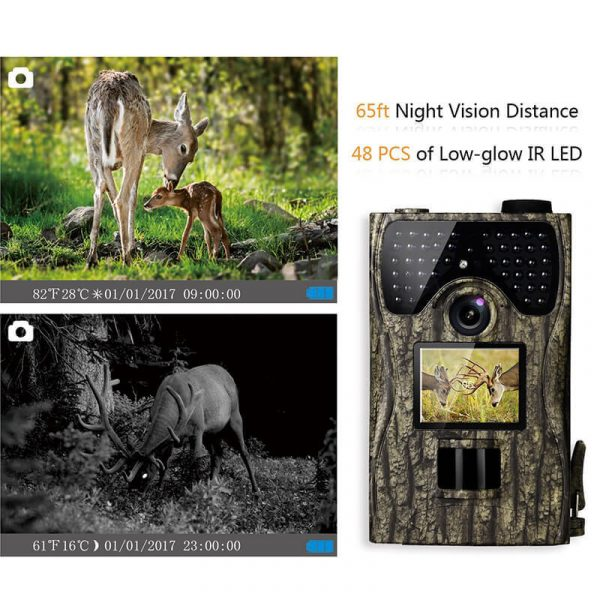 hunting game trail camera with 12mp sensor hd resolutions