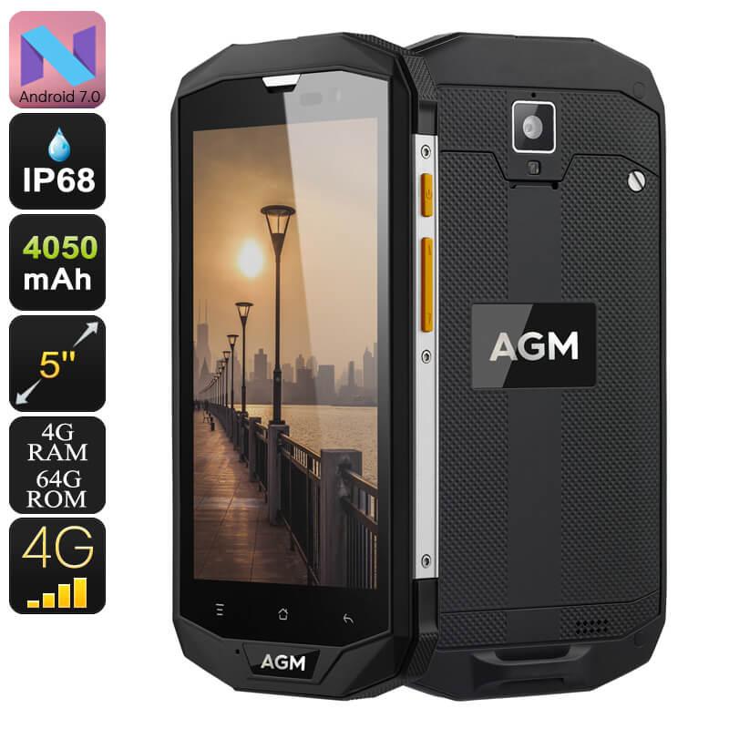 agm a8 rugged smartphone android 7.0 quad core cpu 4gb ram dual imei 4g nfc otg 5 inch display 13mp camera