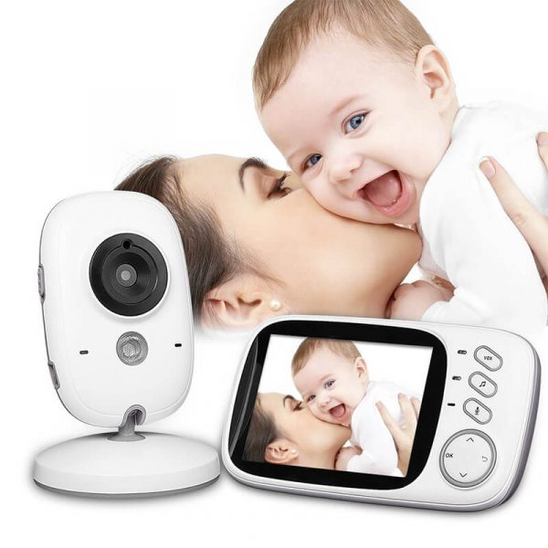 wireless baby monitor 3.2 inch display temperature