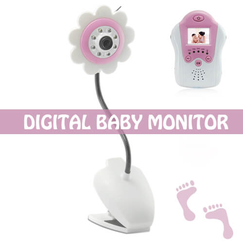 baby monitor night vision av out flower design pink
